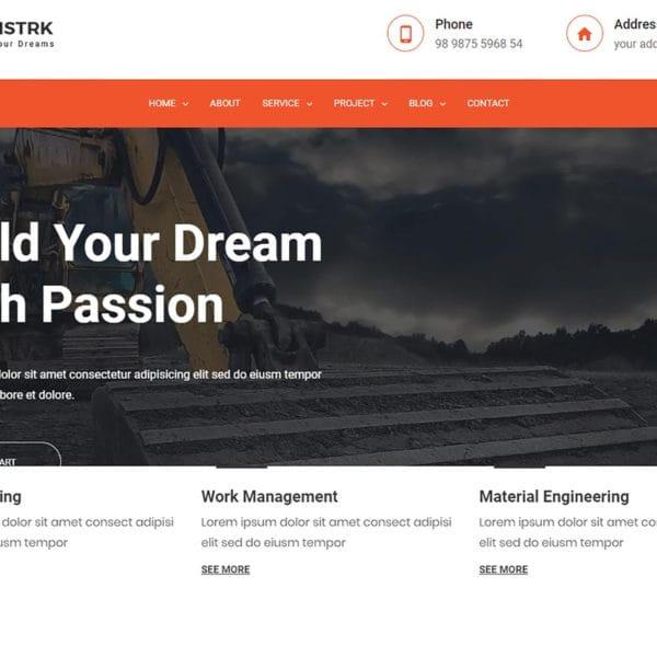 Constrk – Construction Bootstrap 4 Template