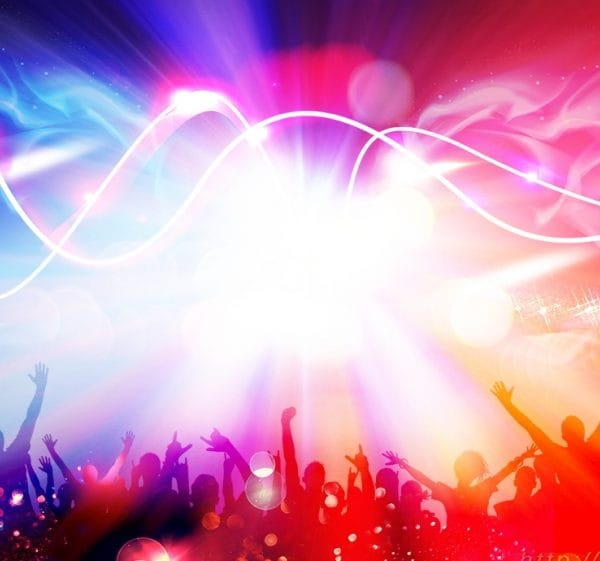 Cool Music Festival Carnival Character Silhouette Background Design
