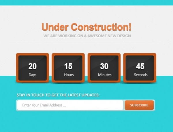 Count down under constructions (Turbo Premium Space)