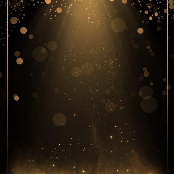 Creative Aesthetic Black Gold Light Effect Background