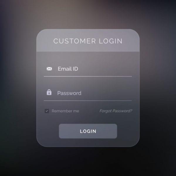 Creative dark login form