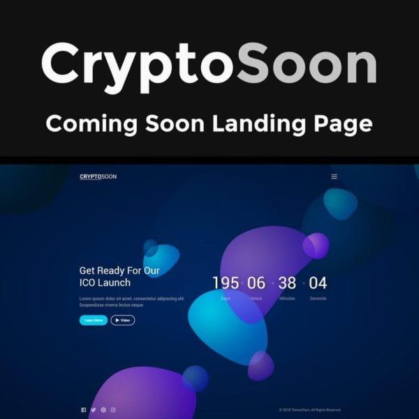 CryptoSoon - Coming Soon Template