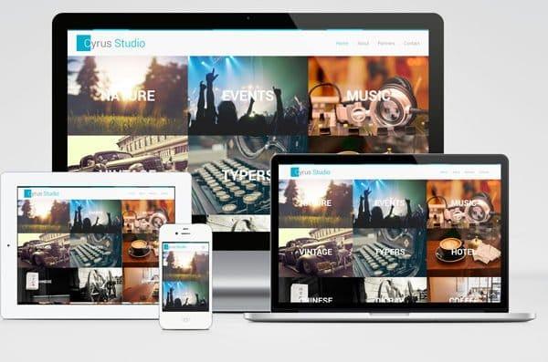 Cyrus Studio - bootstrap portfolio template