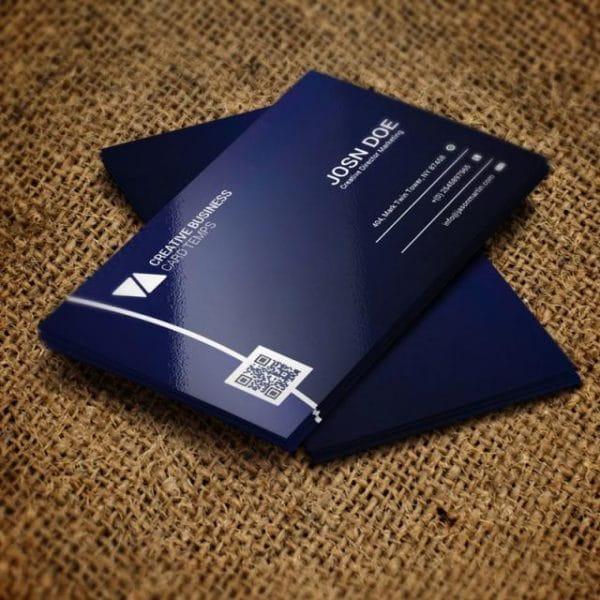 Dark Blue Business Card (Turbo Premium Space)