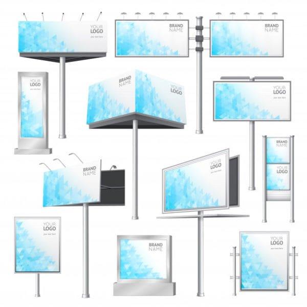 Design billboard mockup set