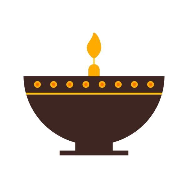 Diwali Lamp Icon Creative Design Template