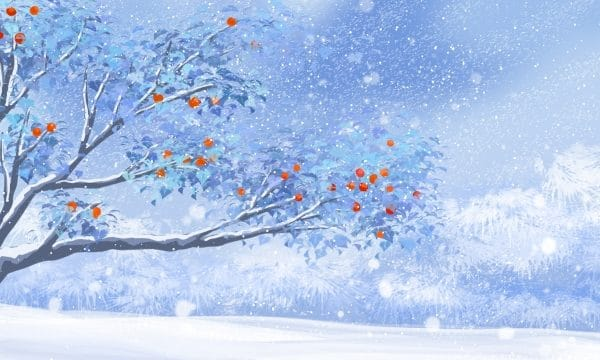 Dream Snow Scene Winter Winter Illustration