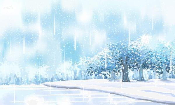 Dream Winter Landscape Snow Scene Illustration
