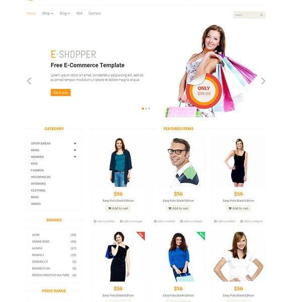 E-Shopper – Best Ecommerce HTML Template