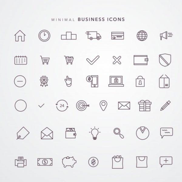 E commerce icon set Premium (Turbo Premium Space)