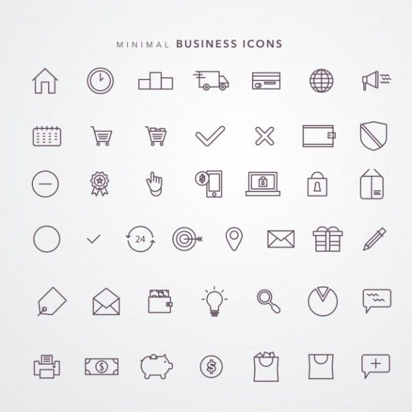 E commerce icon set Premium