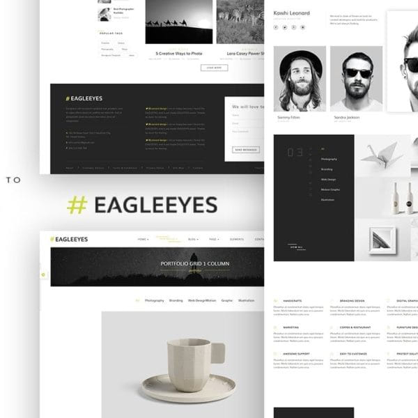 EAGLEEYES - Creative multipages and One page HTML5
