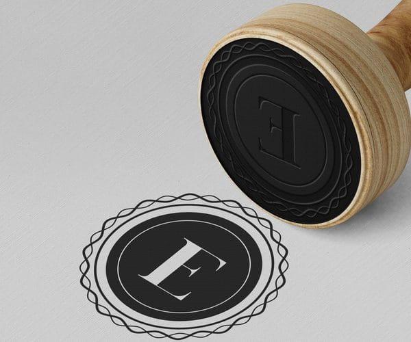 Elegant stamp or badge (Turbo Premium Space)