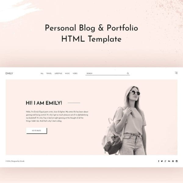 Emily — Personal Blog HTML Template