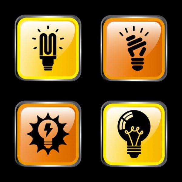 Energy icons over dark (Turbo Premium Space)