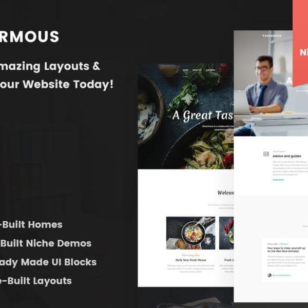 Enormous - Responsive Multi-Purpose HTML5 Template