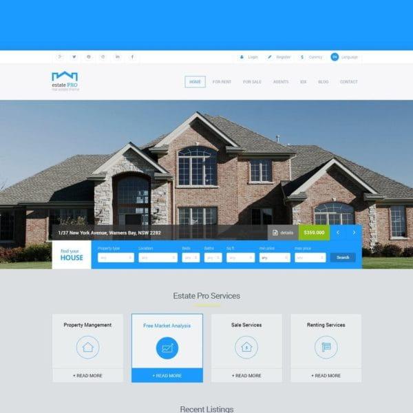 Estate Pro - Real Estate HTML Template