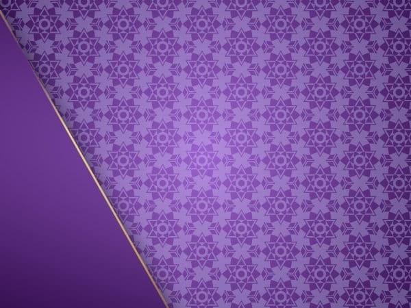 European Pattern Purple Background With Luxury Frame