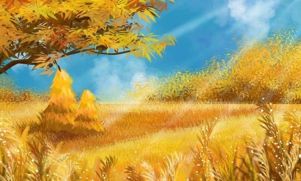 Fall Autumnal Autumn Landscape Autumn Color Illustration