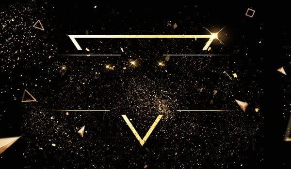 Fashion Atmosphere Black Gold Black Background