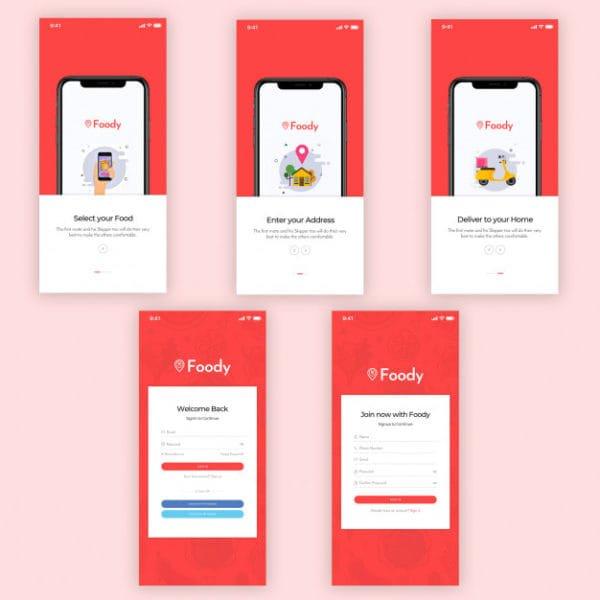 Foody mobile app ui kit (Turbo Premium Space)