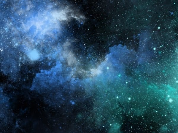 Vector Watercolor Galaxy Poster Background Template