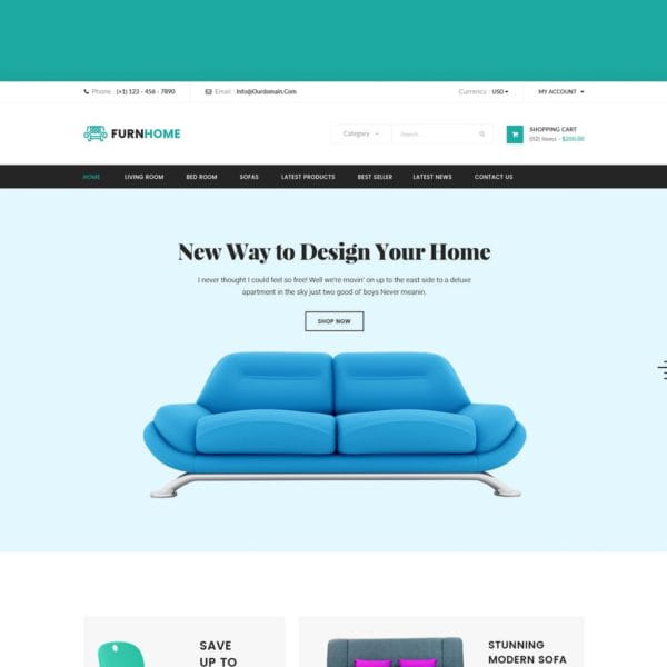 Furnhome - Furniture Shop eCommerce HTML Template