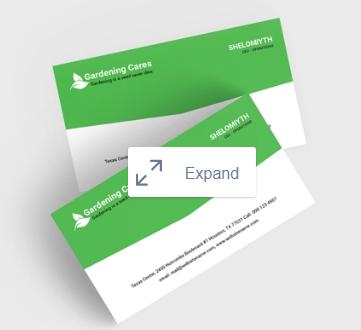 Gardening Business Card Template