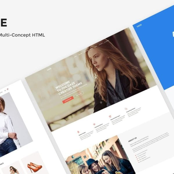 Gaze - Premium Multipurpose HTML Package