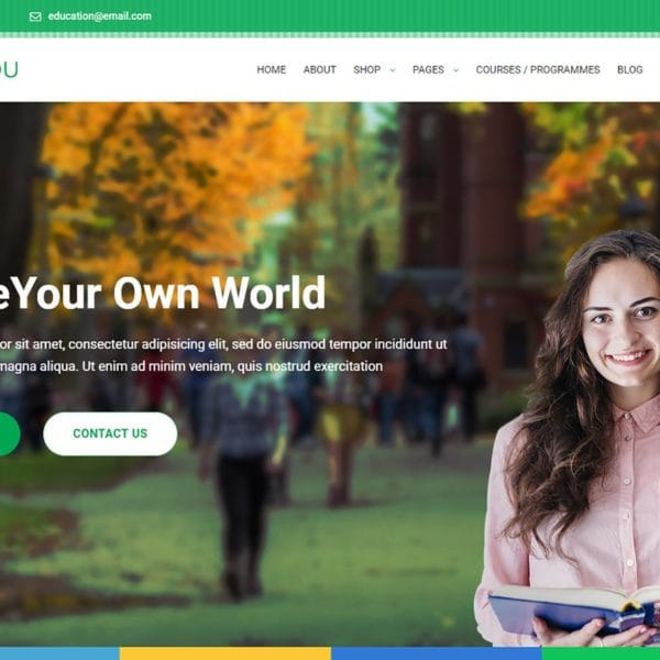 Glaxdu - Education Bootstrap 4 Template