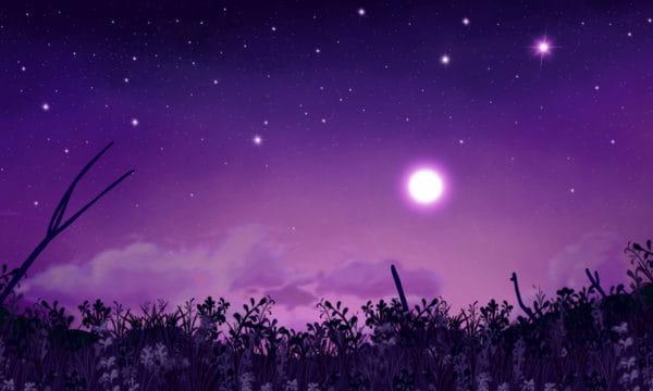 Good Night Hello Full Moon Starry Illustration Illustration