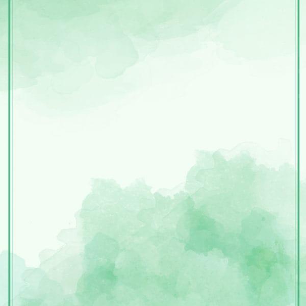 Green Gradient Watercolor Ink Effect Poster Background