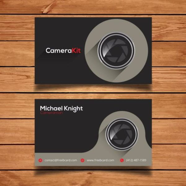 Grey Photography Business Card