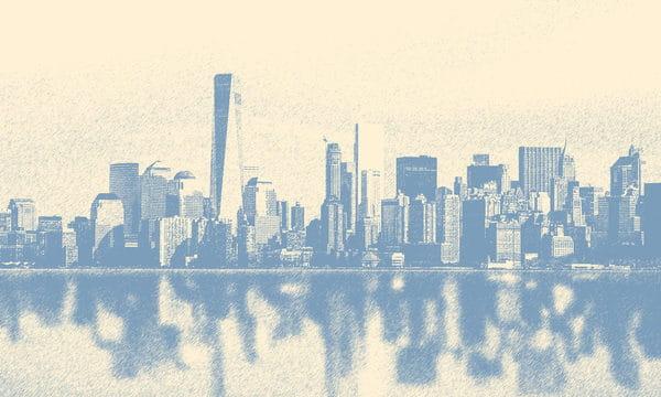 Hand Drawn City Silhouette Building Illustration Sketch Illustration (Turbo Premium Space)