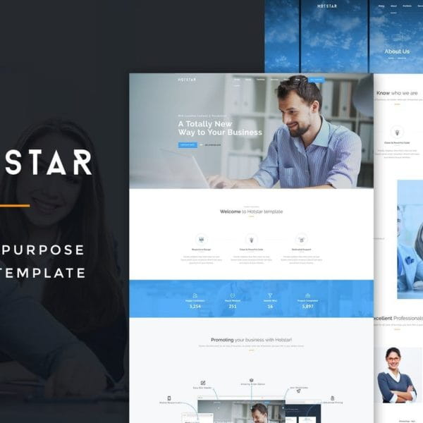 HotStar – Multi-Purpose HTML5 Template