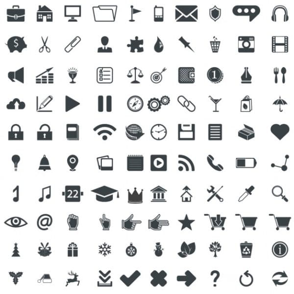 Icons pack for business card