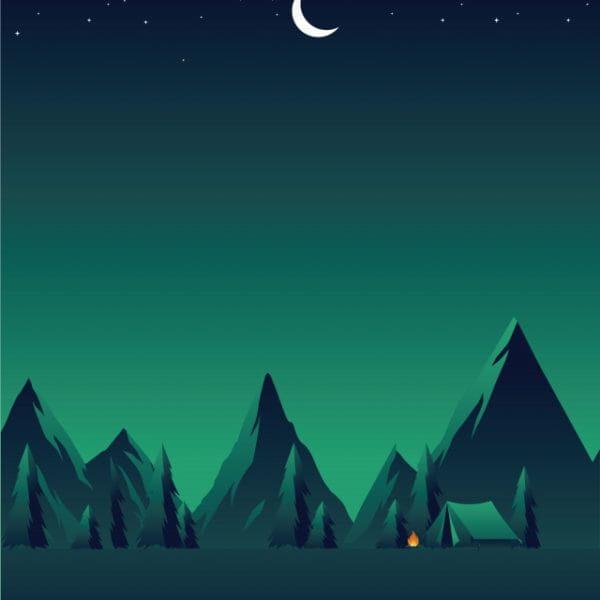 Illustration Field Night Starry Sky Illustration (Turbo Premium Space)
