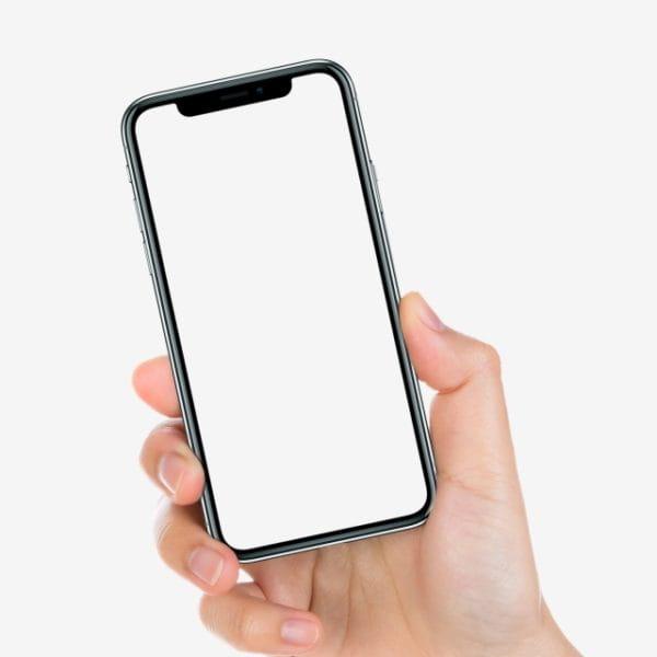 Iphone X In Hand Mockup (Turbo Premium Space)