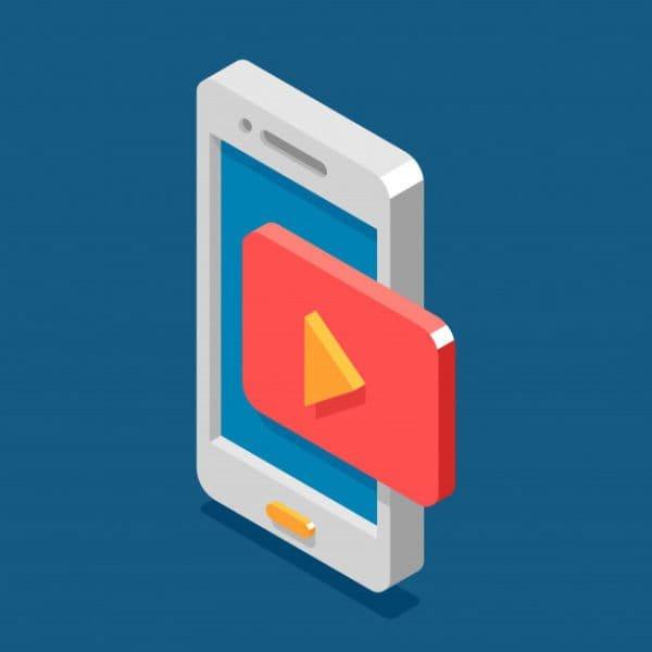 Isometric 3d mobile phone flat (Turbo Premium Space)