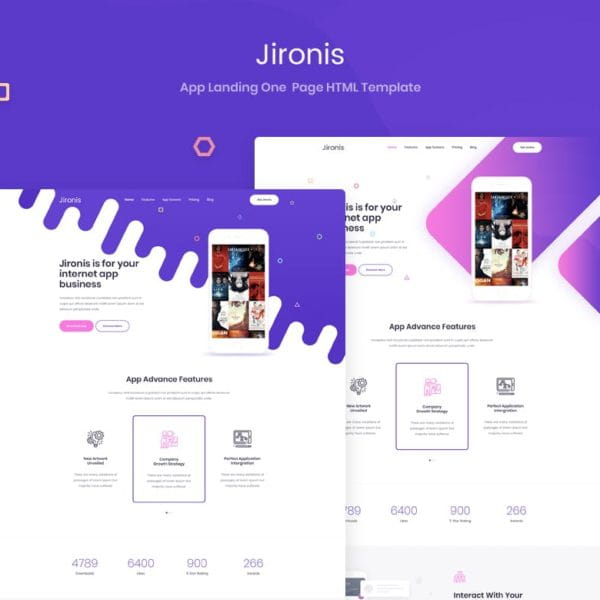 Jironis - App Landing One Page HTML Template