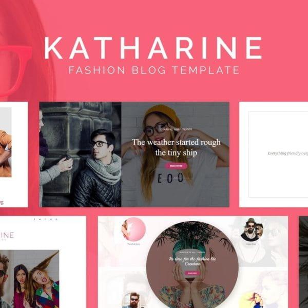 Katharine - Modern Fashion Blog HTML Template