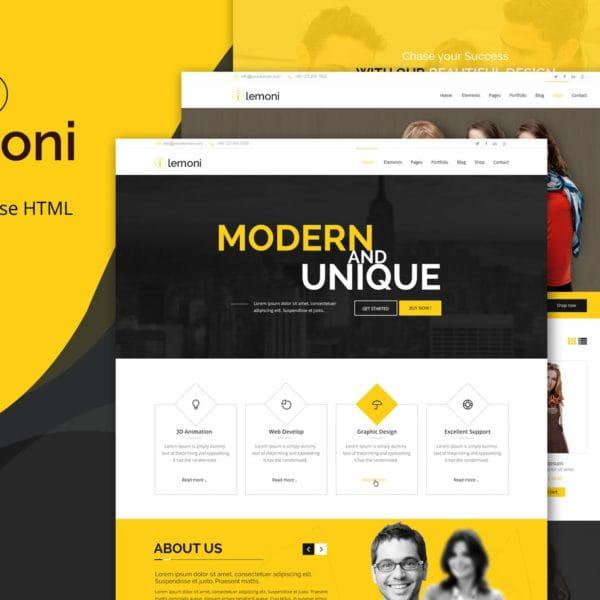 Lemoni - Multipurpose HTML5 Template