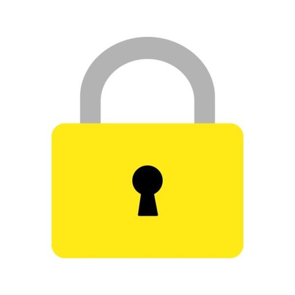 Lock Icon Creative Design Template