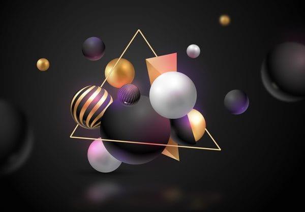 Metallic 3d spheres (Turbo Premium Space)