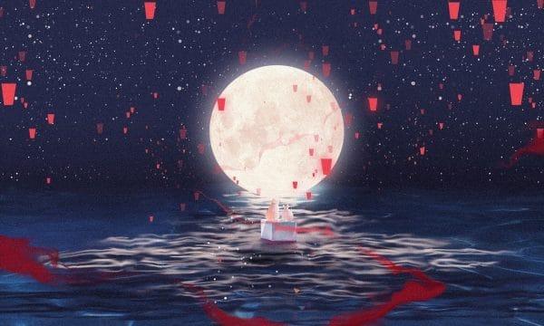 Mid Hand Painted Mid Festival Moon Illustration