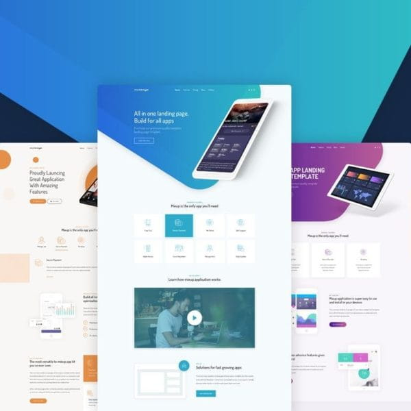Mixup - App Landing Page HTML Template