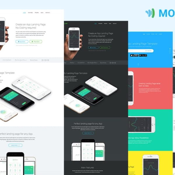 Mobile App Landing Page Templates — Mobland