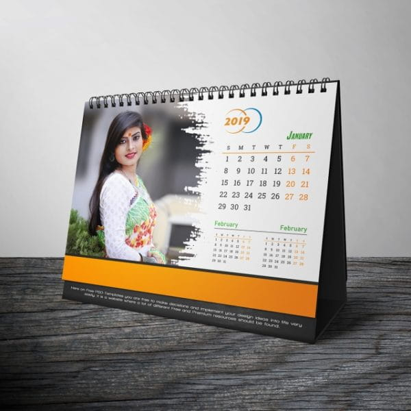 Mock Up Desk Calendar 2019