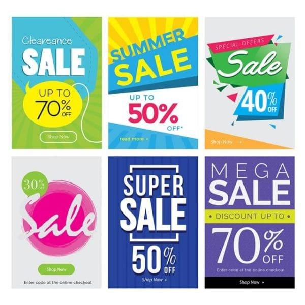 Modern Mega Sale Banner Set