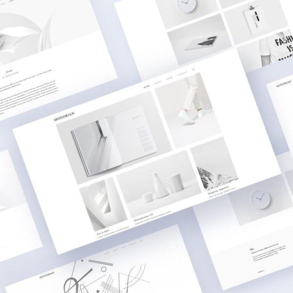 Mondrian VI - Minimal Blog and Store Template